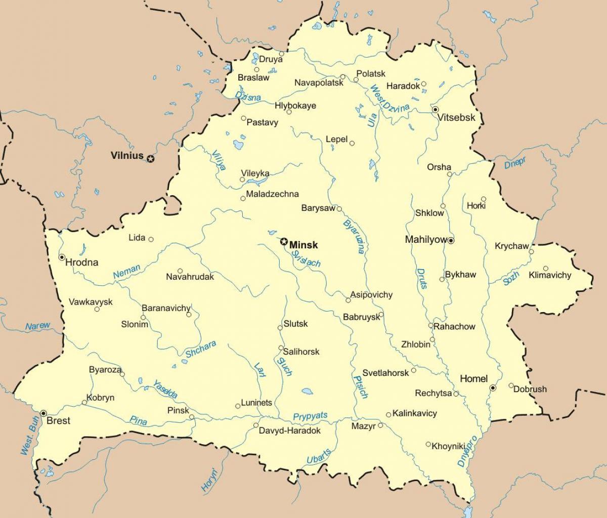Karte Von Belarus Karte Von Weissrussland Ost Europa Europe