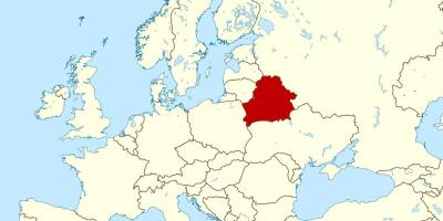 Belarus Auf Der Weltkarte Anzeigen Belarus Standort Auf