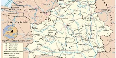 Die Belarus country map